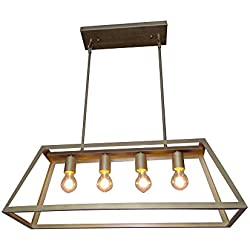 Y-Decor L48-AB LZ480-AB Boxie 4 Light Kitchen Island Pendant