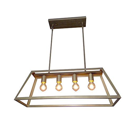 Y-Decor LZ480-AB Boxie 4 Light Kitchen Island Pendant