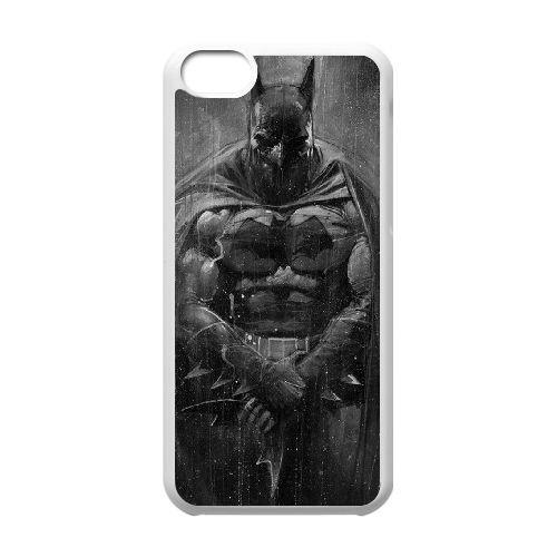 Batman coque iPhone 5C Housse Blanc téléphone portable couverture de cas coque EBDOBCKCO10134