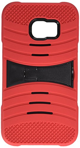 Samsung Galaxy S6 Edge Plus G928 Hard Cover and Silicone Protective Case - Hybrid Red/Black w/ Stand