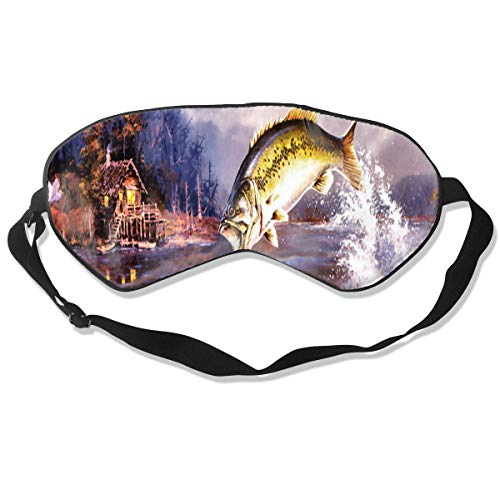 Eye Mask Shad Fish Designer Eyeshade Sleep Mask Soft for Sleeping Travel for Women ()