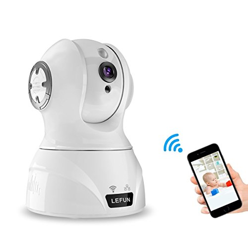 LeFun Wireless Camera, 1080p Pan/Tilt/Zoom Home Security Camera WiFi IP Surveillance Camera Nanny Cam with Motion Detect Two Way Audio Night Vision for Baby Video Monitor (Nanny Cam Audio Video)