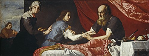 [Oil Painting 'Ribera Jose De Isaac And Jacob 1637', 12 x 32 inch / 30 x 80 cm , on High Definition HD canvas prints is for Gifts And Foyer, Game Room And Study Room Decoration, prints] (Dog Costume Carrying Gift Video)