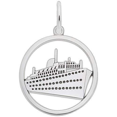 Rembrandt Charms, Cruise Ship.925 Sterling Silver, Engravable