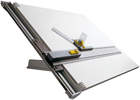 Aristo Zeichenanlage (Format A1, Zeichentisch mit Zeichenmaschine, Plattengröße 70 x 100 cm, verstellbarer Neigungswinkel) grau