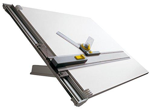 Aristo ZMT1 Zeichenmaschine (A1, mit Tisch, 700 mm Arbeitsraumhöhe, verstellbarer Neigungswinkel, kunststoffbeschichtete Zeichnenplatte) grau