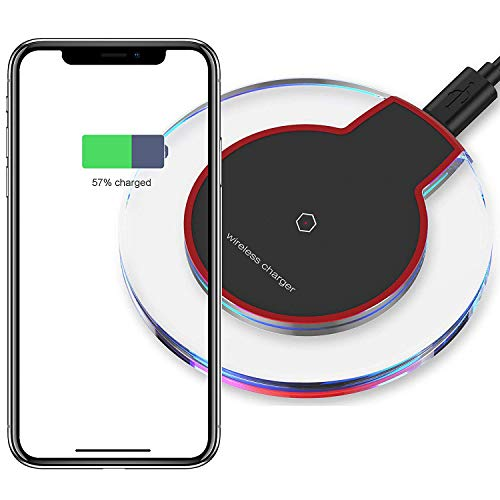 Fast Wireless Charger,7.5W Qi-Certified Wireless Charging Pad Compatible iPhone Xs XS Max XR X 8 8 Plus New Airpods,10W Charger Base Compatible Samsung S10 S10 S10e S9 S9 S8 S8 S7 Note9 8 521