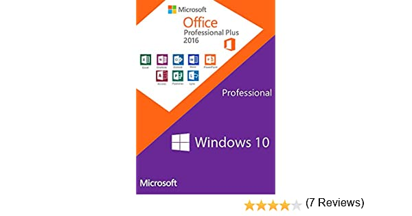 Windows 10 PRO OEM + Office 2016 Professional Plus - Keys Pack: Amazon.es: Software