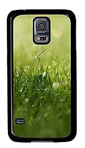 Samsung Galaxy S5 Grass Dew Closeup 2295 PC Custom Samsung Galaxy S5 Case Cover Black