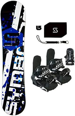 Symbolic 369 Men s Snowboard Black Bindings Leash Stomp Burton Decal Package