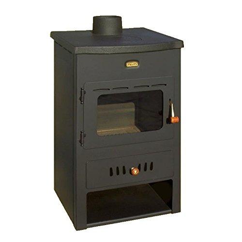 Caldera de leña estufa Prity, Modelo K1 CP W8, salida de calor 12 kW, hierro fundido placa superior: Amazon.es: Bricolaje y herramientas