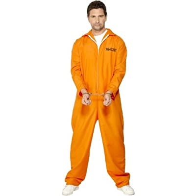 Smiffy's Men's Escaped Prisoner Costume with Boiler Suit: Toys & Games