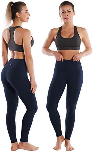 Running Pants BUBBLELIME 26 High Compression High//Mid Waist Yoga Pants Moisture Wicking Tummy Control UPF30