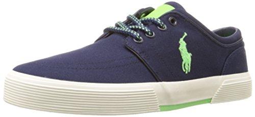 Polo Ralph Lauren Mens Faxon Sneaker Basso Newport Navy / Ultra Lime