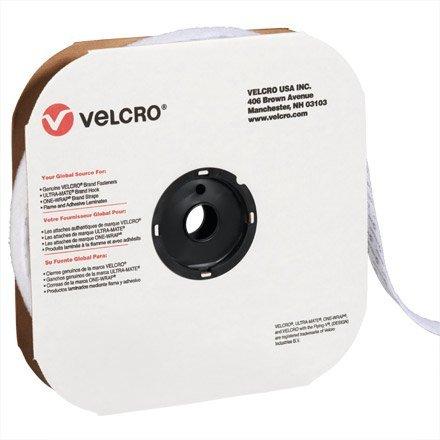 Velcro Tape, Individual Strips, 1'' x 75' Hook, White (VEL135) by Velcro