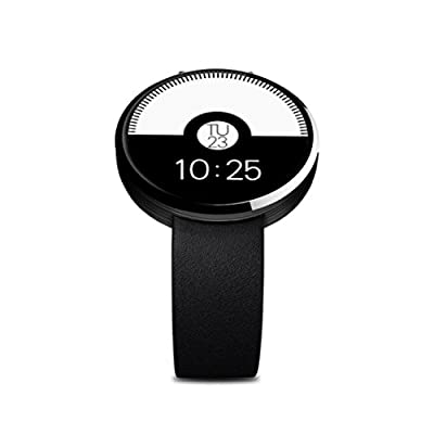 Sinma Waterproof Bluetooth SmartWatch, All-in-1 Finger Gestures Voice Control Smart Wirst Watch with Heart Rate Monitor, Sedentary Reminder, Two Way Anti-lost, Pedometer, Remote Camera Function, Black