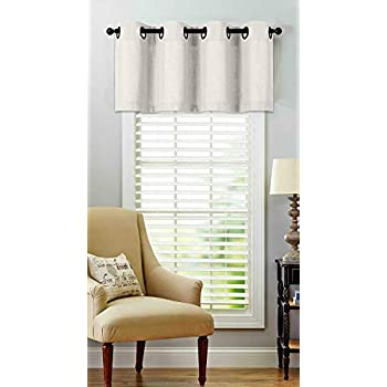 Regal Home Collections Oversized Grommet Top Window Valance Assorted Colors