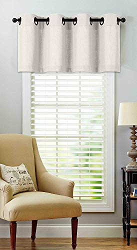 Regal Home Collections Luxurious Oversized Grommet Top Window Valance - Assorted Colors (Off White)