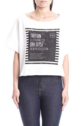 Triton Blusa de Moletom Estampada Masculino, G, Off Shell
