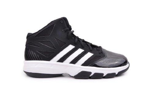 Chaussures De Basket-ball Cross Em 2 Adidas Hommes Noir / Running Blanc / Argent Métallisé