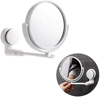 壁掛けHDラウンドバニティミラー、回転拡大鏡、省スペース、画像クリア、設置が簡単、ベッドルーム、化粧台、ホテルに最適