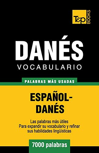 Libro : Vocabulario español-danes - 7000 palabras mas us...