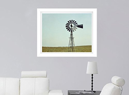 Farmhouse Wall Art, Country Rustic Home Decor, Old Windmill Photography Print, Farm Art Print, Country Style Kitchen, Dining Room, Living Room Artwork