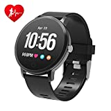 BingoFit Epic Fitness Tracker Smart Watch, Activity Tracker with Heart Rate Monitor, Waterproof Pedometer Watch with Sleep Monitor, Step Counter for Kids (Black-2)
