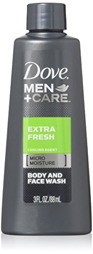 Dove Men + Care Extra Fresh Body and Face Wash 3 Oz Travel Size (Pack of 3)