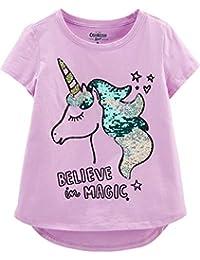 c73644b3 Kids' Little Girls' Sequin Short-Sleeve T-Shirt