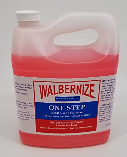 Walbernize One Step Wash and Wax Concentrate - 1/2 Gallon