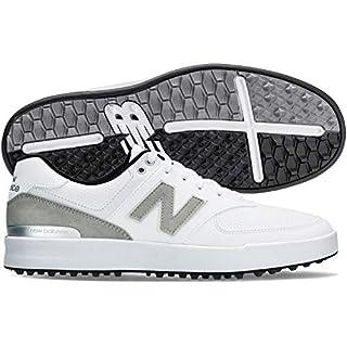 New Balance Men's 574 Greens Golf Shoes, White, 12, D