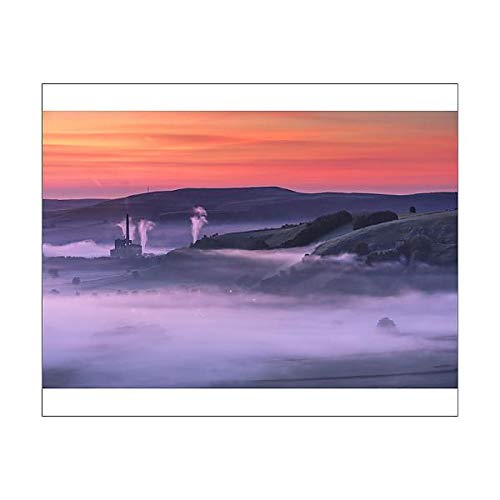 Media Storehouse 10x8 Print of Peveril Castle, Autumn Sunrise, Castleton, English Peak District. UK ()