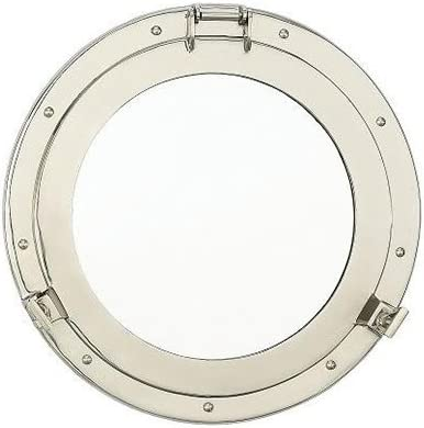 Nickel Porthole Mirror – 17