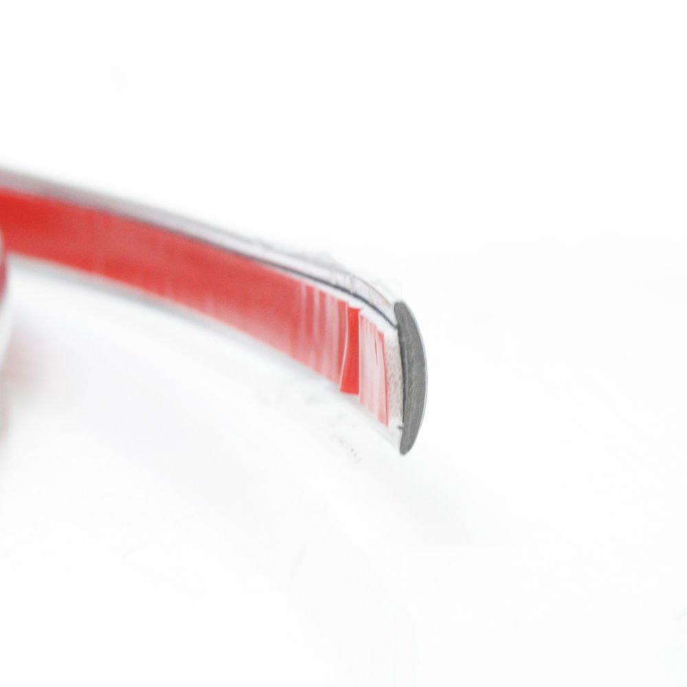 Boloromo 15mmx1m Ancho Flexible Adhesiva Cromada Tira Decorativa para Coche