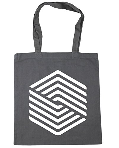 42cm x38cm Grey 10 Beach Bag Square litres HippoWarehouse Graphite Tote Gym Shopping Illusion AgO10gqcU6