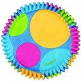 Wilton Retro Dots Mini Baking Cups, 100-Count