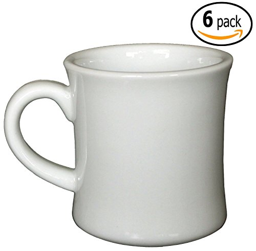 Cac Ceramic Hartford Diner Coffee Mugs With Pan Scraper