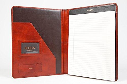 Bosca Old Leather Padfolio Portfolio - Cognac 922-32 by Bosca