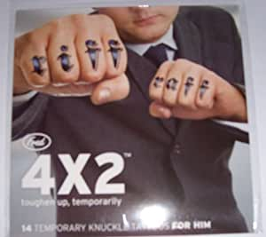4x2 Temporary Knuckle Tattoos For Him