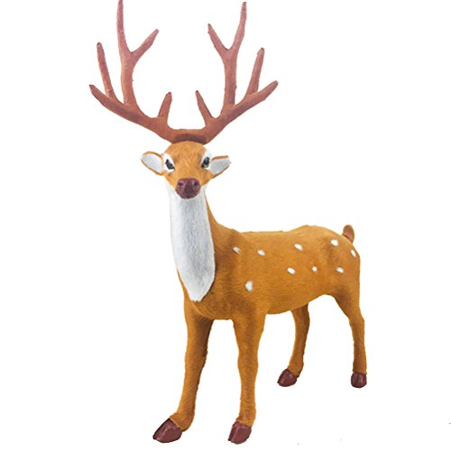 OULII Christmas Deer Ornament Deer Stuffed Toys 25x15cm for Christmas Party Favors Decoration