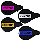 Butterfly BD Full Case Table Tennis/Ping Pong Paddle Case Heavy-Duty Nylon Material - Fits 1 Racket - Full Protection - 4 Available (Pink/Blue/Yellow/Silver)