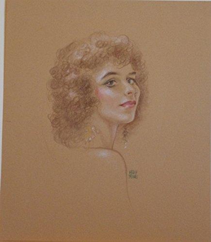 (KELLY FREAS original art, Beautiful Woman Portrait, Pastel, 9