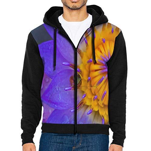 Men Hoodie Fondo De Pantalla Water Lily Frog Personalized Full Zip with Pocket Sweatshirt Lightweight for Halloween]()