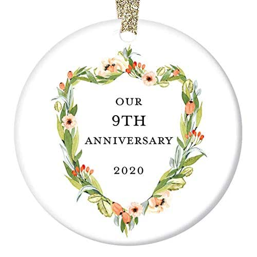 Keepsake Wedding Gifts: Amazon.com: 9th Wedding Anniversary Ornament Gifts 2020