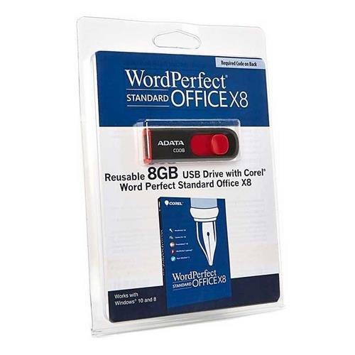 Corel WordPerfect Office X8 Standard Edition (on USB Flash Drive)