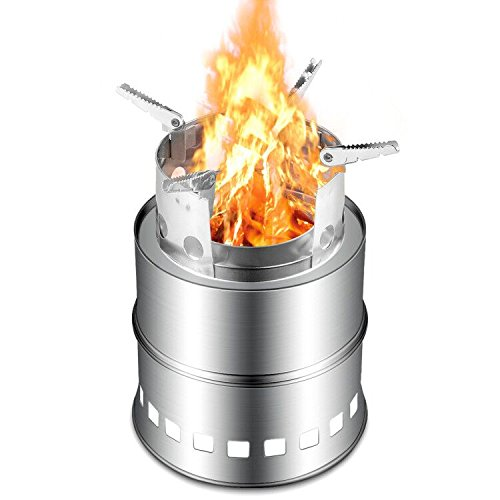 iRegro Camping Stove, Portable Stainless Steel Backpacking Stove for BBQ Picnic Camping Hiking by iRegro