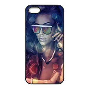 iPhone 4 4s Cell Phone Case Black Girls glasses Zjwkb