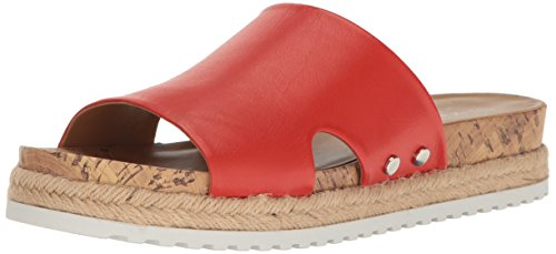 Franco Sarto WoMen L-Elina Slide Sandal, Orange Orange