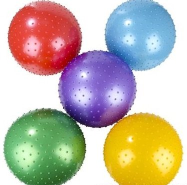 18 Inch Knobby Ball 5 Pack Assorted (Large Bouncy Balls)